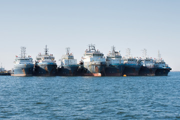 fishing boats in Namibia