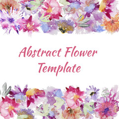 Watercolor Flower template
