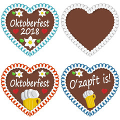 gingerbread hearts Oktoberfest 2018