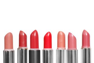 Set of colorful lipsticks