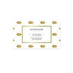 Makeup art business card vector template
