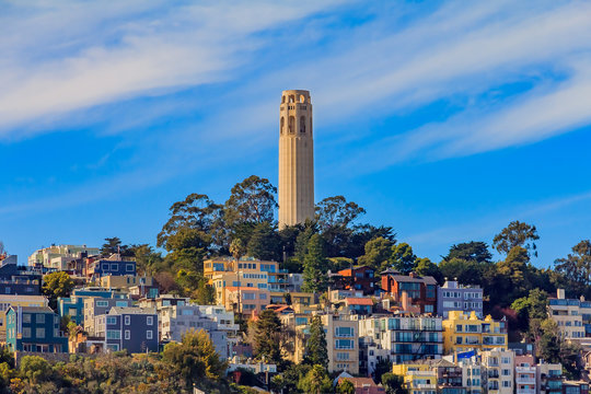 Famous Coit Tower in San Francisco California