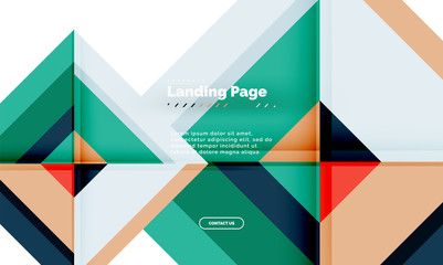 square shape geometric abstract background landing page web design template - Datenschutzkonzept Muster