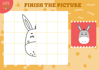 Copy and complete the picture vector blank game, illustration