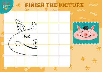 Copy and complete the picture vector blank game