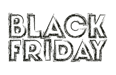 black friday message with hand made font vector illustration design