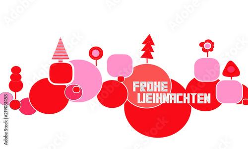 Frohe Weihnachten Band.Frohe Weihnachten Band Banner Welle Wellen Baum Bäume Stock Image
