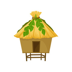 Tropical bungalow vector Illustration on a white background