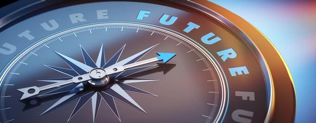 Dunkler Kompass mit Lichtspiel - Future