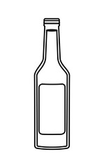 alcoholic beverage bottle icon vector illustration design