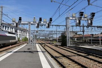 Signalisation ferroviaire française Chemin de fer Bordeaux gare Saint Jean