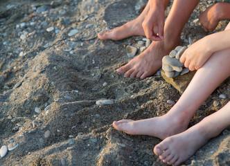Baby bare feet
