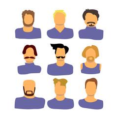 Men vector set