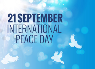21 September International Peace Background. Vector Illustration
