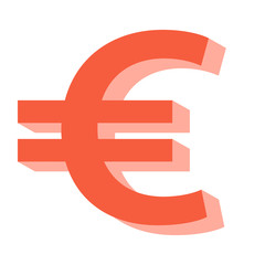 European Union Euro symbol hand drawn 3d look vector illustration, finance, economical, crisis, currency, digital currency crisis, money concepts
