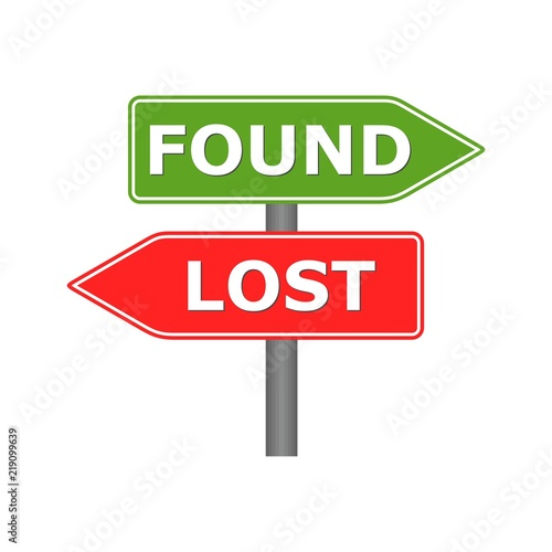 lost and found sign stock image and royalty free vector files on