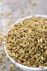 fennel seeds in dish
