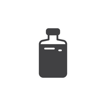 Liquid bottle vector icon. filled flat sign for mobile concept and web design.Bottle glassware simple solid icon. Symbol, logo illustration. Pixel perfect vector graphics