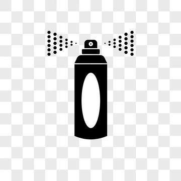 Spray vector icon on transparent background, Spray icon