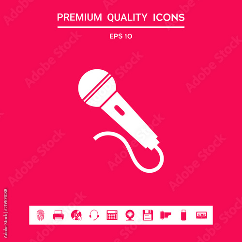 Microphone Symbol Icon Stock Image And Royalty Free Vector Files On