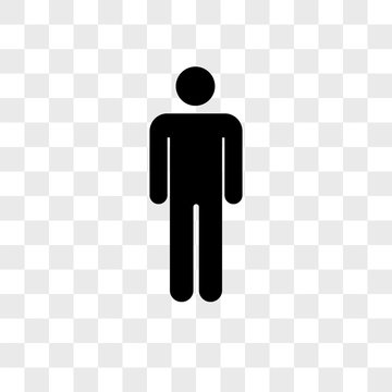 Man vector icon on transparent background, Man icon