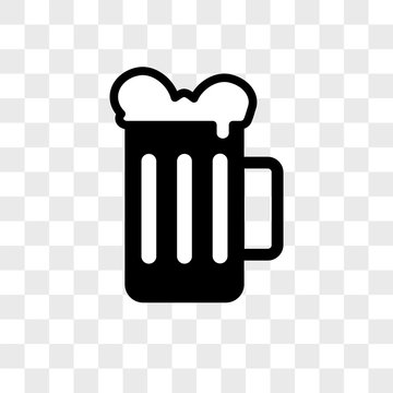 Beer vector icon on transparent background, Beer icon