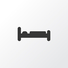 Bed icon symbol. Premium quality isolated bedroom element in trendy style.