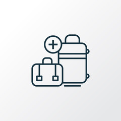 Extra baggage icon line symbol. Premium quality isolated luggage element in trendy style.