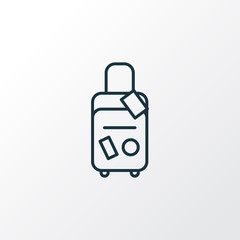 Travel bag icon line symbol. Premium quality isolated baggage element in trendy style.