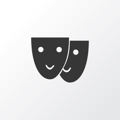 Mask icon symbol. Premium quality isolated theater element in trendy style.
