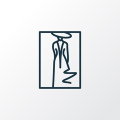 Fashion sketch icon line symbol. Premium quality isolated portrait element in trendy style.