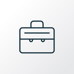 Suitcase icon line symbol. Premium quality isolated briefcase element in trendy style.