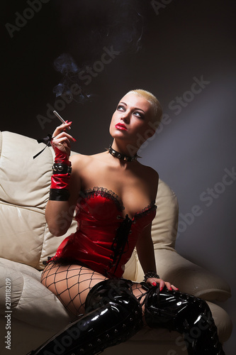 fetish woman smoking