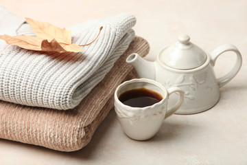 Warm autumn sweaters