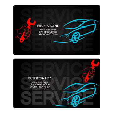 Car repairs business card