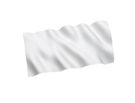 White flag isolated on white background