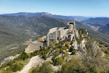 Peyrepertuse cathar castle, France