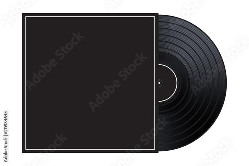 vector vinyl in the box cover mockup template illustration