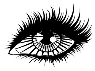 Eye with rays
