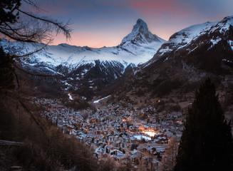 View over Zermatt Switzerland