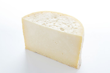 cheese portion isolated on white background