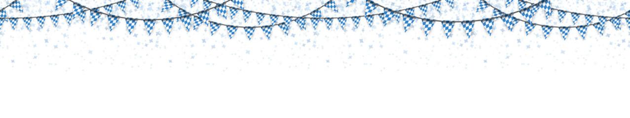 Oktoberfest garlands with confetti