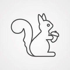 Squirrel vector icon