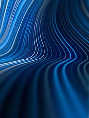 Digitale blauw gekleurde lijnen abstracte achtergrond. 3D-rendering
