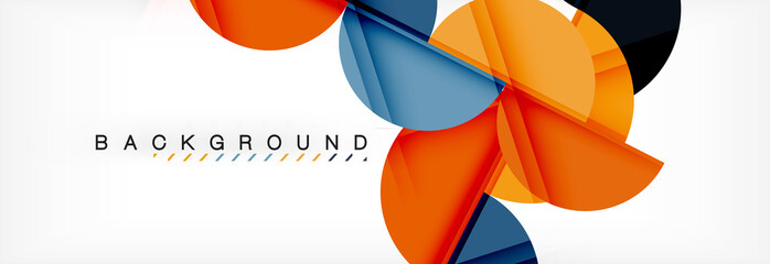 Modern geometrical abstract background - circles. Business or technology presentation design template, brochure or flyer pattern, or geometric web banner