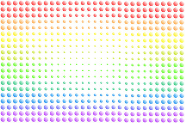 Colorful rainbow bumpy texture background of gradient colors and dots, used LGBT pride flag colors, symbol of LGBTQ (lesbian, gay, bisexual, transgender, and questioning). Vector illustration, EPS10.