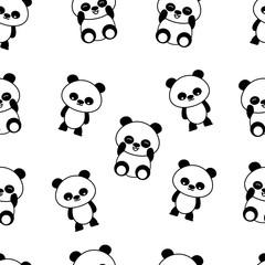 seamless pattern panda expression