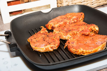 Steak spice marinade and put on the grill griddle