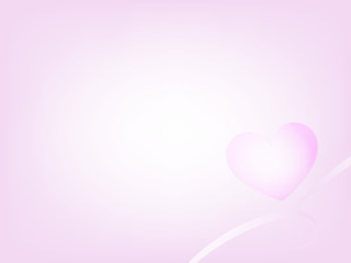 vector sweet pink heart background on valentines day event