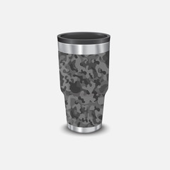Metal water cooler and heat style military army and soldier